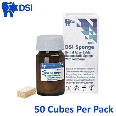 Dsi Dental Sterile Absorbable Haemostatic Sponge Gelfoam With Iodoform 50pcs