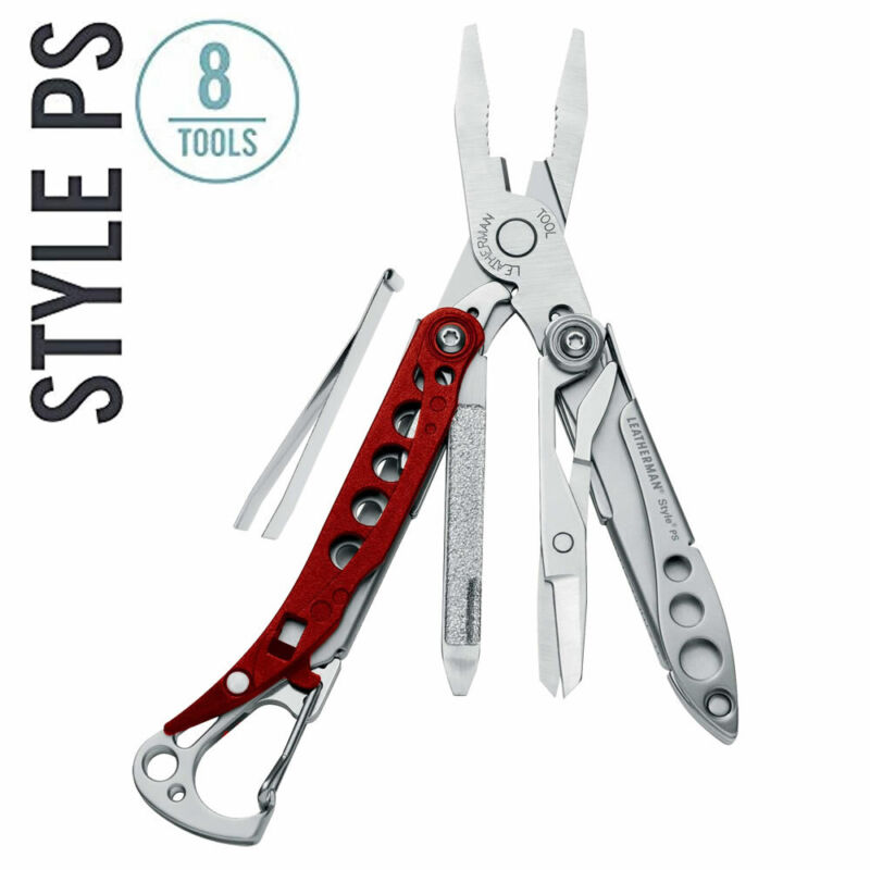 ~NEW~ Leatherman Style PS Keychain Tool, Red/Stainless (TSA-compliant)