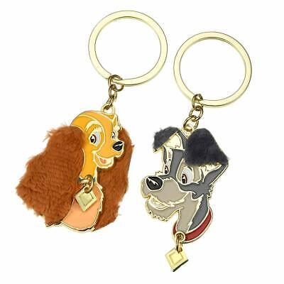 New Disney Store Japan Lady & Tramp Keychain Set NWT Lady and the Tramp Rare!
