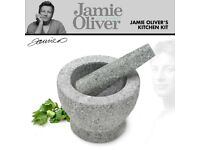 Jamie Oliver Marble Mortar and Pestle - Spicy and sauce ideal for pesto - NEW