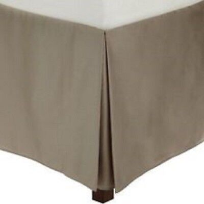 Calvin Klein Small Diamond King Size Tailored Bedskirt Bed Skirt Clay Taupe