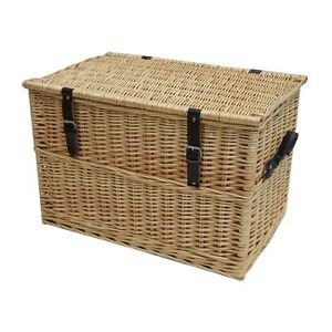 Wicker-Chest-Storage-Trunk-Solution-Willow-Box-Lid-Toy-Blanket-Linen ...