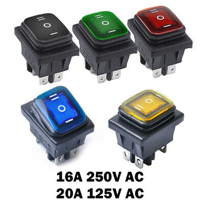 2pcs 16a 250vac20a 125vac Toggle Rocker Switch 6-pin Dpdt On Off On 3 Position
