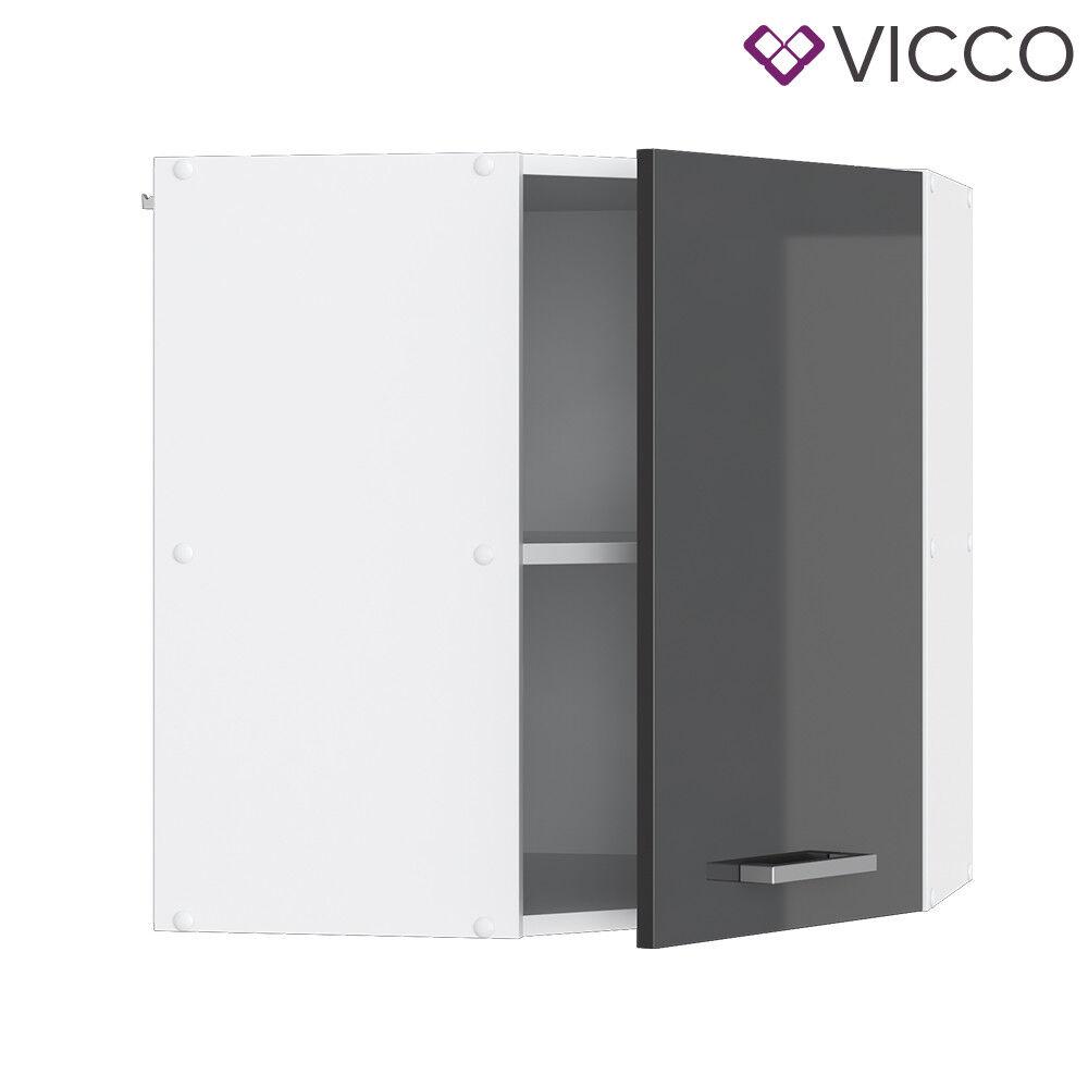 VICCO Küchenschrank Hängeschrank Unterschrank Küchenzeile R-Line Eckhängeschrank 57 cm anthrazit