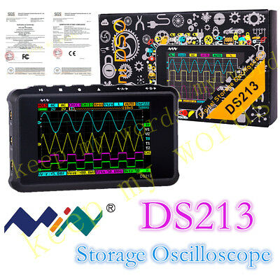 New Portable Lcd 4-channel Digital Oscilloscope Ds213 Usb 15mhz 100msas Models