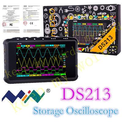 New Portable Lcd 4-channel Digital Oscilloscope Ds213 Usb 15mhz 100msas Models