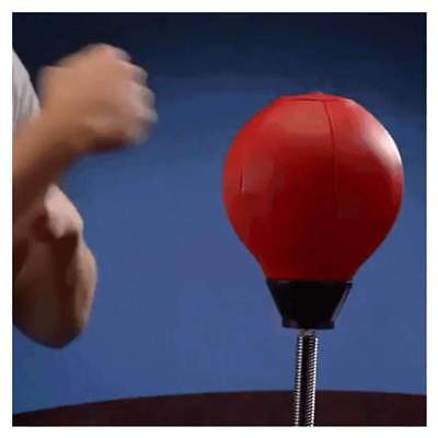 Adults Stress Relief Desktop Punching Bag Speed Punching Hit Ball Toy Fitness (Hitting Speed Bag)