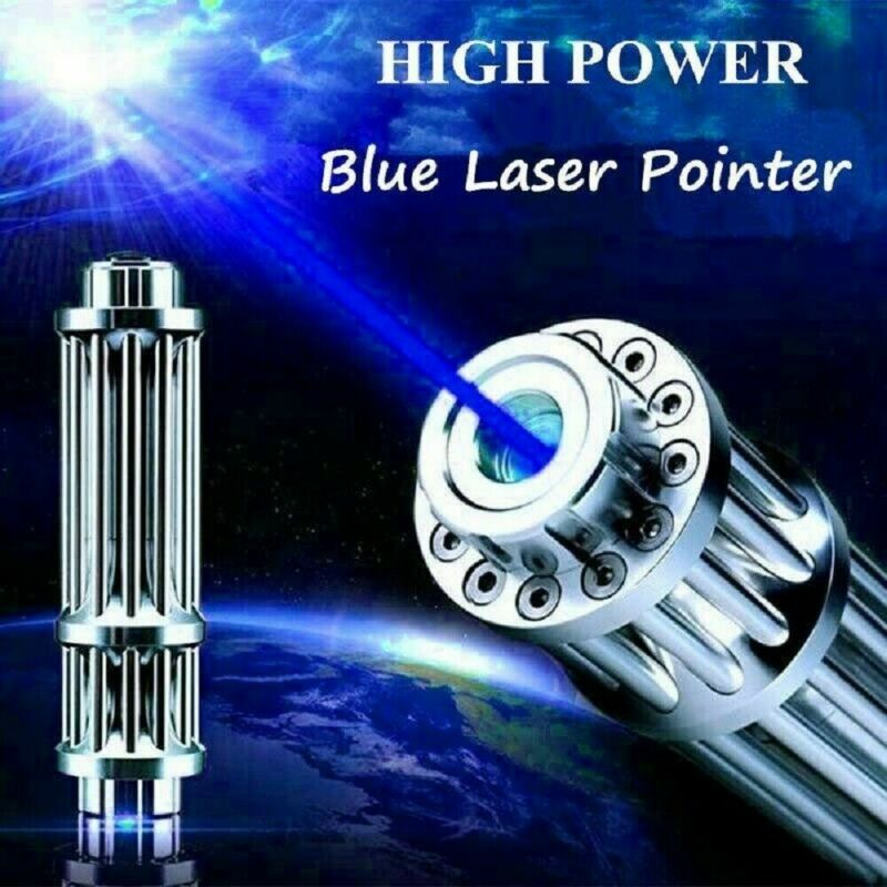 445nm Focusing Blue Laser Pointer Set Pen Stern Militar Burning Beam Light 7.4V