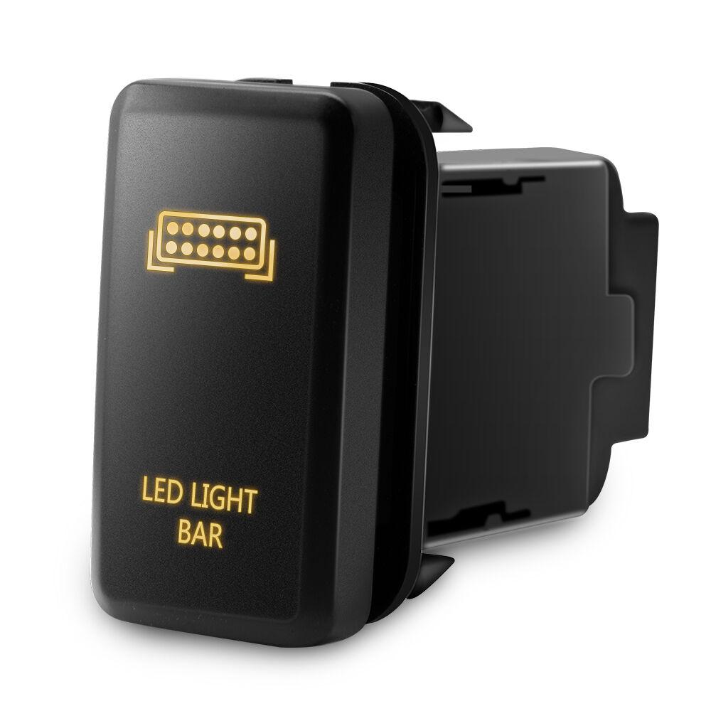 Lamp Bar Switch: 12V Push Switch Orange LED Light Bar For Toyota Fortuner