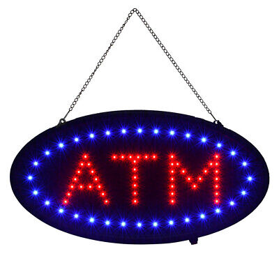 19x10 Flash Led Business Sign Atm Neon Light Display Board W On Off Switch