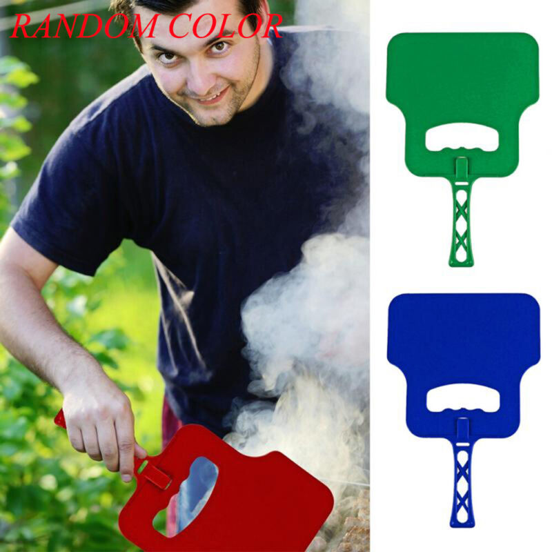 Barbecue Hand Held Fan Plastic BBQ Grill Flame Air Crank Blo