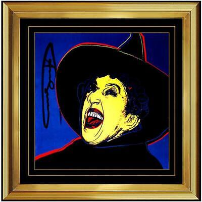Andy Warhol Hand Signed Color Lithograph The Witch from Myth suite (Invitation)