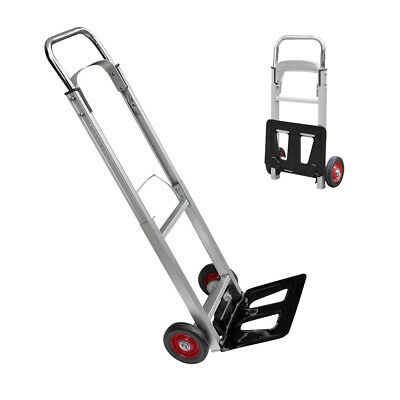 Folding Hand Truck Lightweight Aluminium Alloy Heavy Duty Sack Cart 90kg S247