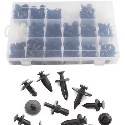 415Pcs Plastic Car Door Trim Clip Bumper Rivets Screws Panel Push Fastener Kit