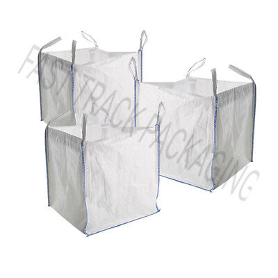 5 x large Strong Bulk 1 ton Bags Builders Sack, Rubble, Waste, Sand, Log storage