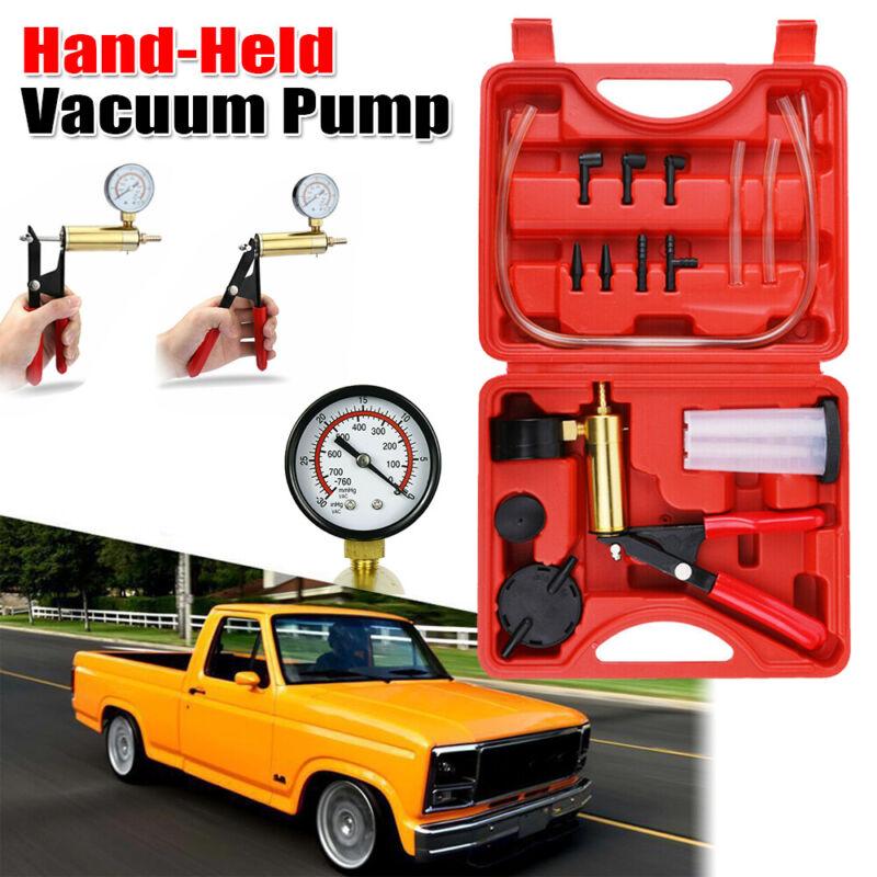 Hand Held Vacuum Pressure Pump Tester Set Gauge Test Tuner  0-30inHg Kit +Box