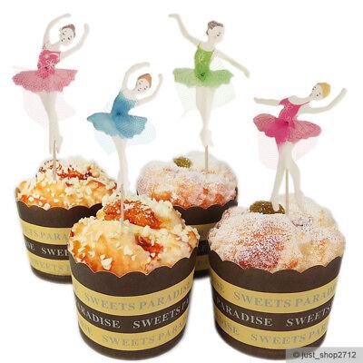24 Ballerina Topper Toppers Cupcake Tüll Kinder Geburtstag Muffin Kuchen Torte  (Kinder Geburtstag Kuchen Topper)