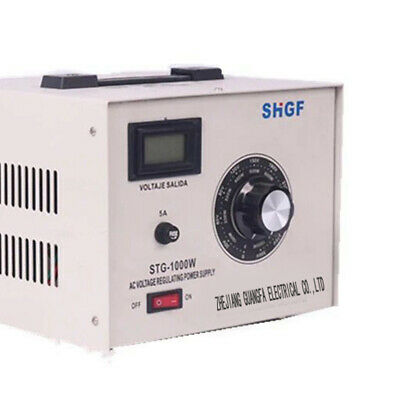 Variable Voltage Regulator Transformer 10a1000w Max 0300 Volt Output