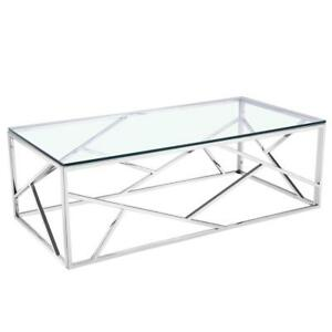 MODERN GLASS COFFEE TABLE | TABLE LIVING ROOM (XC2300)