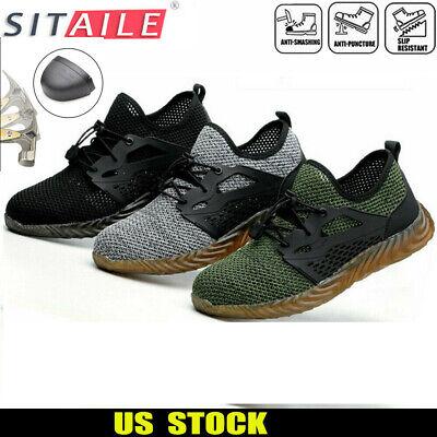 Mens Safety Work Shoes Indestructible Steel Toe Ventilation Bulletproof Boots