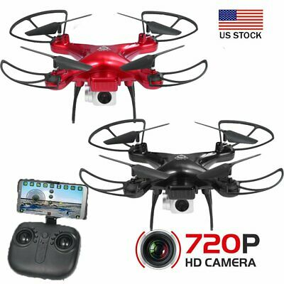 720p Quadcopter Headless Drone 2.4G Altitude Hold RC Quadcopter+ WIFI HD Camera