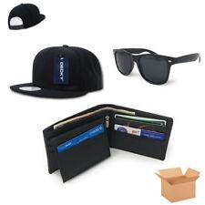 Buy and sell Men's Gift Set Box Flat Bill Baseball Hat Leather Wallet Way Sunglasses near me