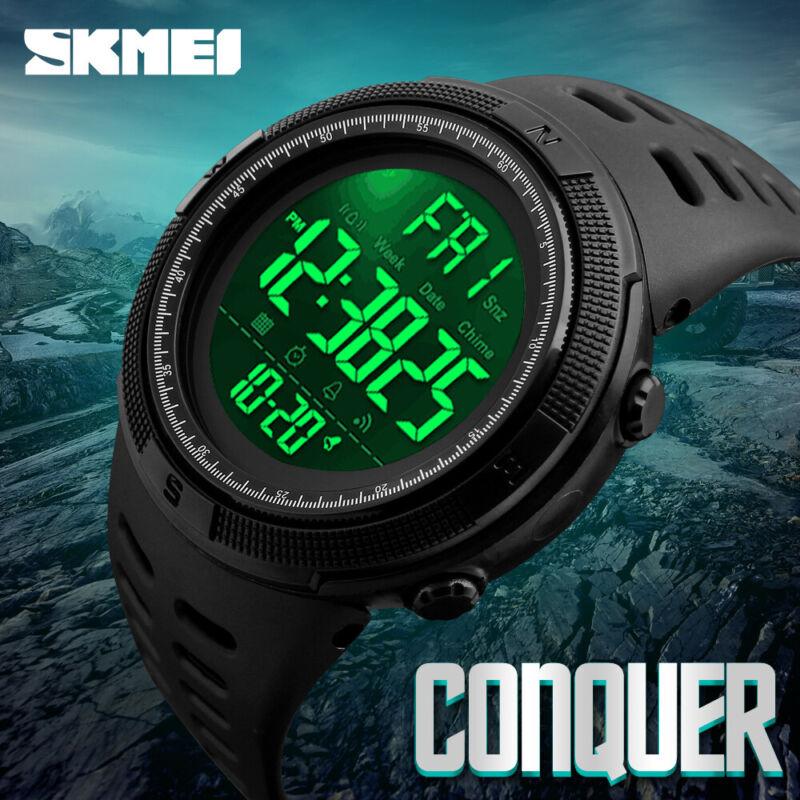 Men's Sport Army Military Alarm Calendar Dual 50M Waterproof Digital Wrist Watch