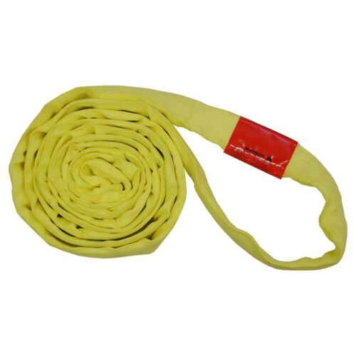 Polyester Lift Sling Endless Round Sling Yellow 9000LBS Vertical, 4