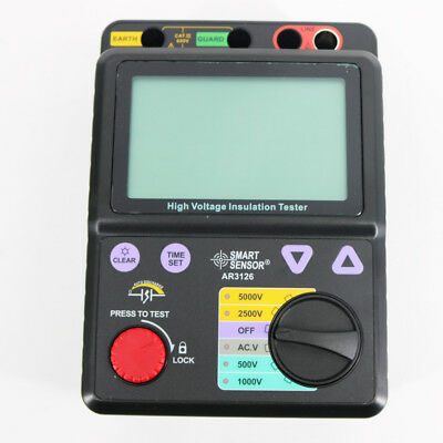 New Ar3126 High Voltage Insulation Tester 0-1000g Ohm 500v1000v2500v5000v