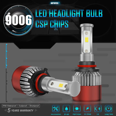 2017 Cree LED Headlight Kit 9006 HB4 980W 6000K 147000LM Bulbs Pair Replace HID