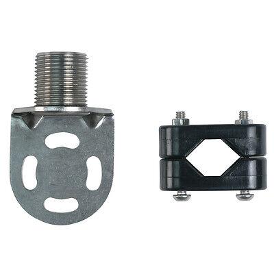 "Shakespeare 4720 Economy Stainless Steel Rail Antenna Mount (7/8"" - 1-1/4"" inch)"