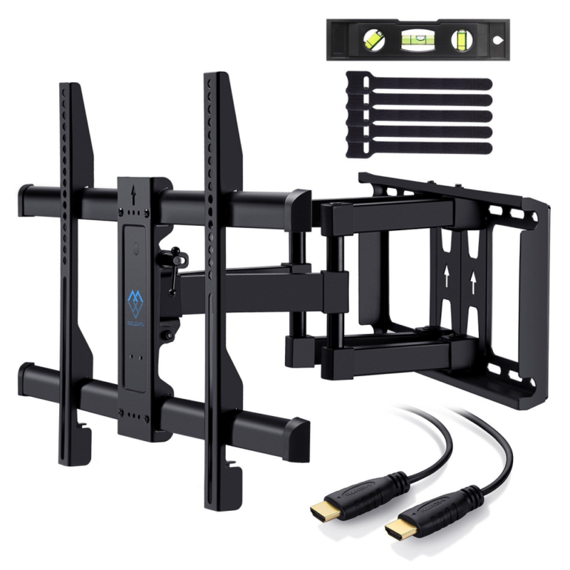 PERLESMITH TV Wall Mount Bracket Full Motion Dual Articulati