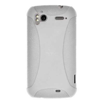 AMZER Silicone Skin Jelly Case for HTC Sensation 4G - Transparent White ()