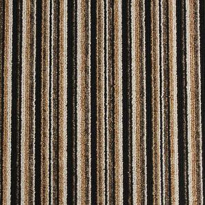 High Quality, Brown Striped - Loop Pile, Felt Back Carpet ...