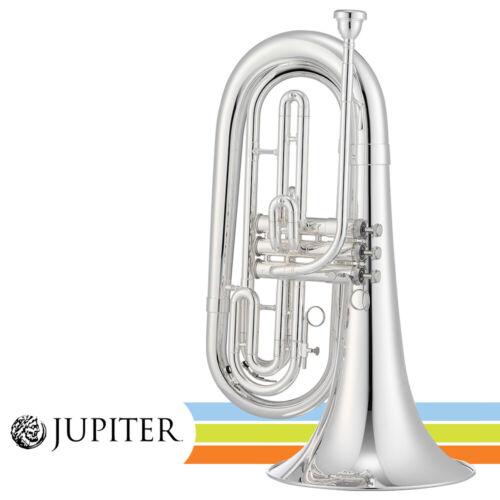 Jupiter JBR1000MS Key of Bb Silver Plated Brass Quantum Marching Baritone w/ Cas