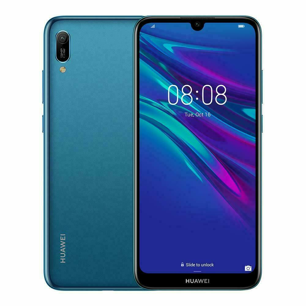 Android Phone - Huawei Y6 2019 Blue - 4G LTE 32GB Smart Phone / Android 9.0 / Unlocked / 13MP