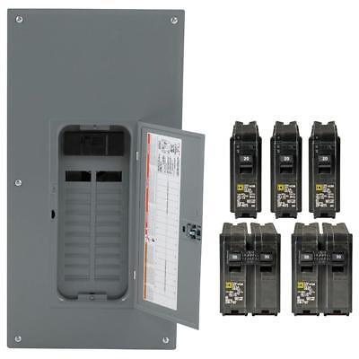 Square D 200-amp 20-space 40-circuit Indoor Main Breaker Panel Box Load Center