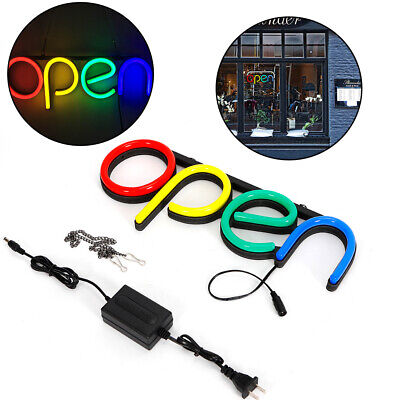 2pcs Open Sign Led Neon Light Business Commercial Lighting Bar Club Wall Decor