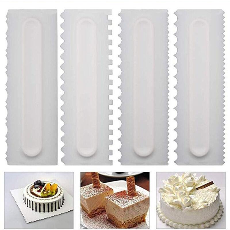 Fondant Jagged Edge Stainless Steel Cake Scraper Cream Spatulas Baking Mold