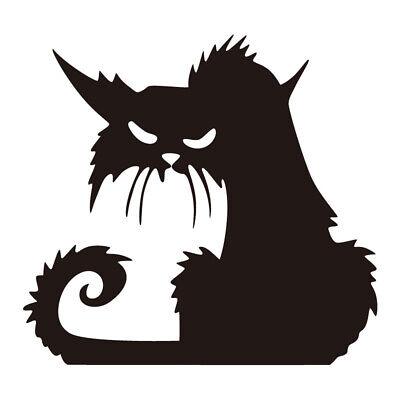Fenster Wand-Aufkleber schwarze Katze Halloween Wandtattoo Wandsticker - Halloween Fenster Sticker