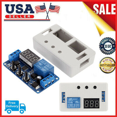 12v Led Automation Switch Relay Delay Timer Module Pcb Board With Case Us R7p1