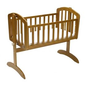 Wooden crib with mothercare mattress