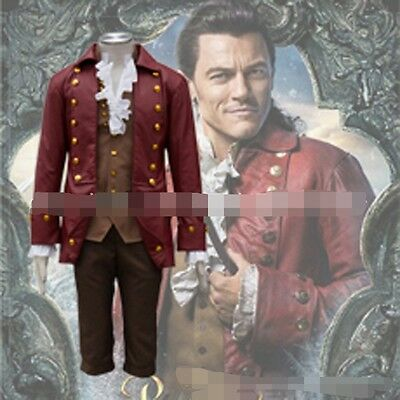 new Beauty And The Beast Gaston Cos Costume Halloween Fancy Ball Men'S Clothes
