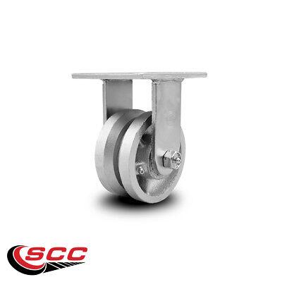 Scc 4 X 2 V Groove Semi Steel Wheel Rigid Caster - 800lbscaster
