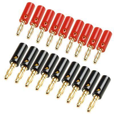 AKORD 4 mm Gold Plated Banana Plugs