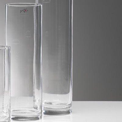 6er SET Glasvasen, Dekogläser CYLI zylindrisch rund H 25cm D 10cm Sandra Rich
