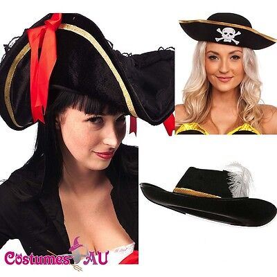 Pirate Hat Pirates Of The Caribbean Captain Jack Buccaneer Costume Accessories (Pirates Of The Caribbean Accessories)