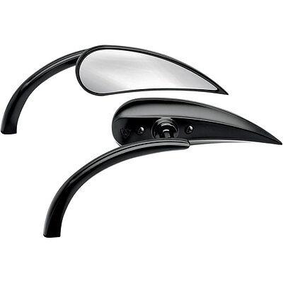 Arlen Ness Black Rad II Teardrop Micro Mirror Left Side for Harley Models