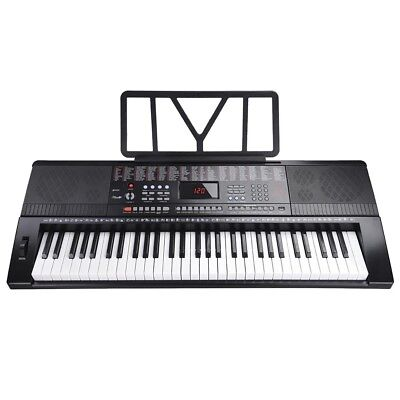 LCD Display 61 Key Music Digital Keyboard Piano USB Input Talent Practise Gift