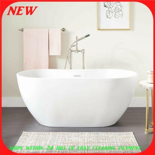"Signature Hardware Hibiscus 59"" Free Standing Oval Bathtub"